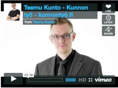 Teemu Kunnon esittelyvideo